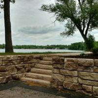Redi-rock Retaining wall in White Lake.