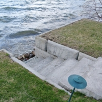 Pic #2 Stone step inlet in stone wall in village of Orchard Lake, MI