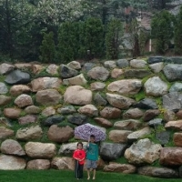 Boulder wall in Brighton in for private home