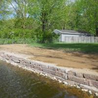 Pic #2 Lakeshore ledge-stone wall