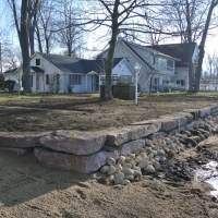 Another view of wall on Lake in Pinckney, MI