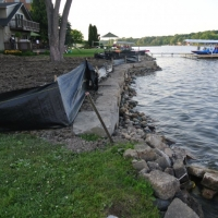 Pic #3 riprap DEQ requirements of along toe of new wall