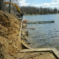 Before Picture of Hamburg Lake Project