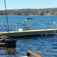 Cantilever Dock on Winans Lake in Brighton, MI