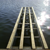 Pic #1 Before picture of Permanent dock on Thompson Lake in Howell, MI