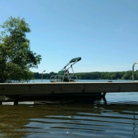 2015 install of Cantilever dock in Brighton, MI