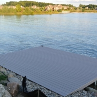 20' x 15' platform dock in South Lyon, MI in 2014