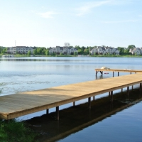 120' x 8' steel frame dock in Wixom, MI