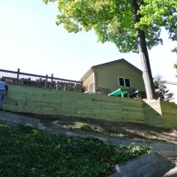 "Belleville, MI ""Hand crafted"" wood retaining wall"