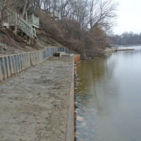 Big Project in Ford Lake in 2014 completely transforming shoreline