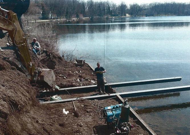 permanent cantilever dock